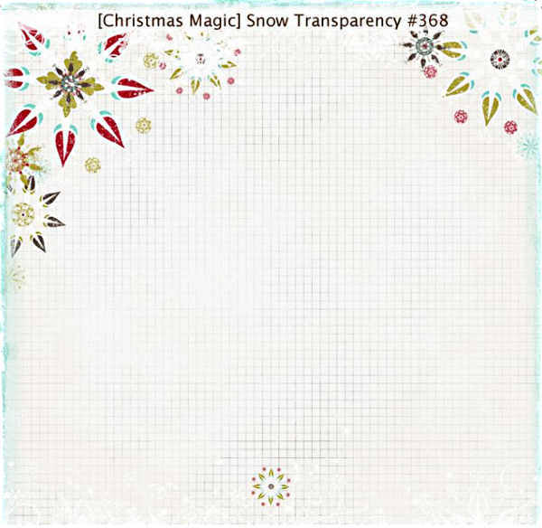 Christmas Magic  Snow Overlay - 12 x 12 Transparency - Fancy Pants
