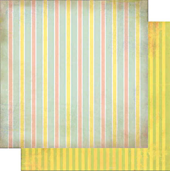 Afternoon Muse  Stripe 12 x 12 Double-sided Paper - Glitz