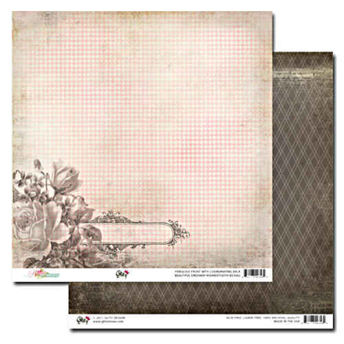 Beautiful Dreamer  Houndstooth 12 x 12 Double-sided Paper - Glitz