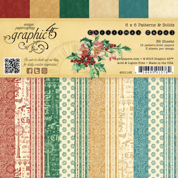Christmas Carol -  6x6 Patterns & Solids Pad - Graphic 45
