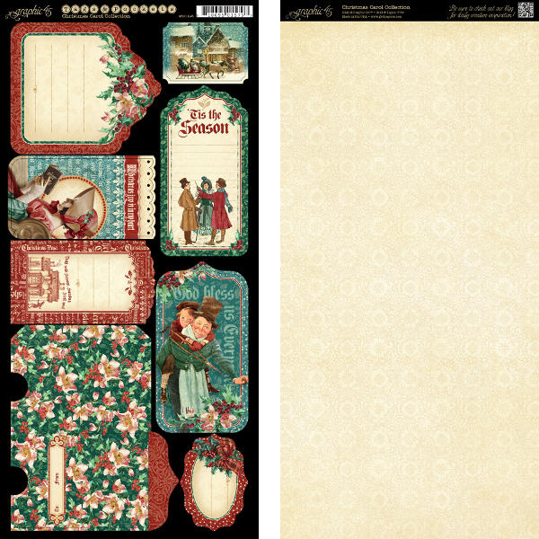 Christmas Carol -  Cardstock Tags & Pockets - Graphic 45-1