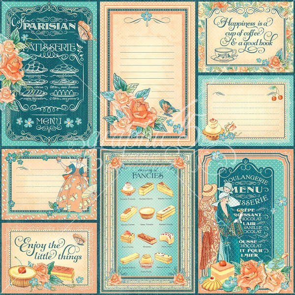Cafe Parisian   - Life Is Sweet - 12 x 12 Patterned Paper - Graphic 45-1