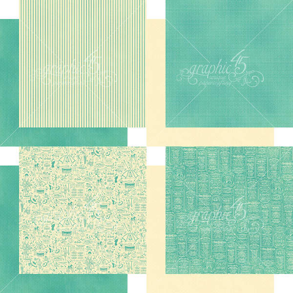 Cafe Parisian  - 12x12 Patterns & Solids - Graphic 45-2