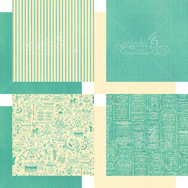 Cafe Parisian  - 6x6 Patterns & Solids - Graphic 45-2