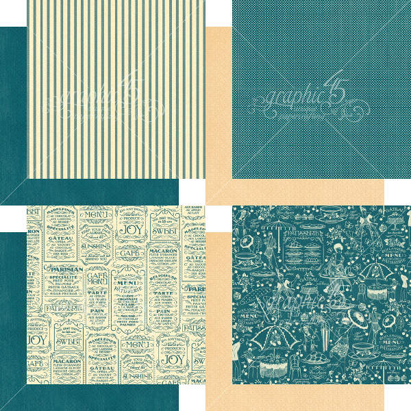 Cafe Parisian  - 6x6 Patterns & Solids - Graphic 45-3