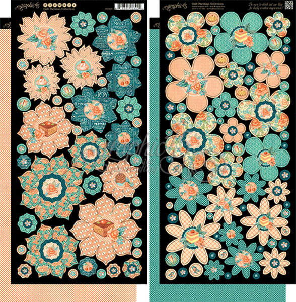 Cafe Parisian  - Cardstock Flowers - Graphic 45