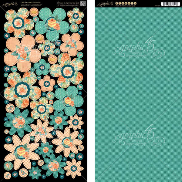 Cafe Parisian  - Cardstock Flowers - Graphic 45-2