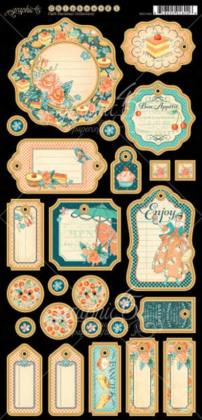 Cafe Parisian  - Journaling Chipboard - Graphic 45