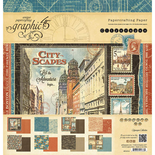 Cityscapes -   12x12 Paper Pad - Graphic 45