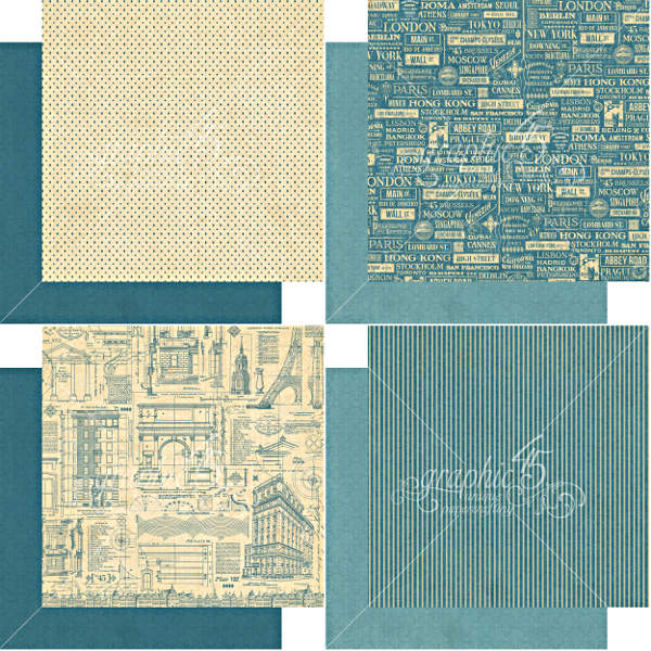 Cityscapes -   6x6 Patterns & Solids - Graphic 45-1
