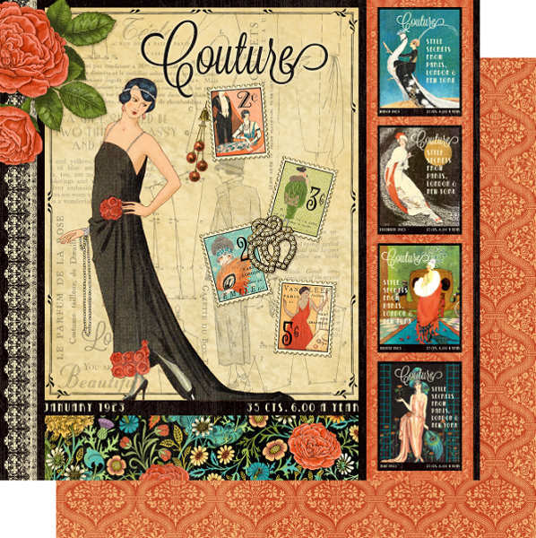 Couture -  Couture 12x12 Double-sided Paper - Graphic 45