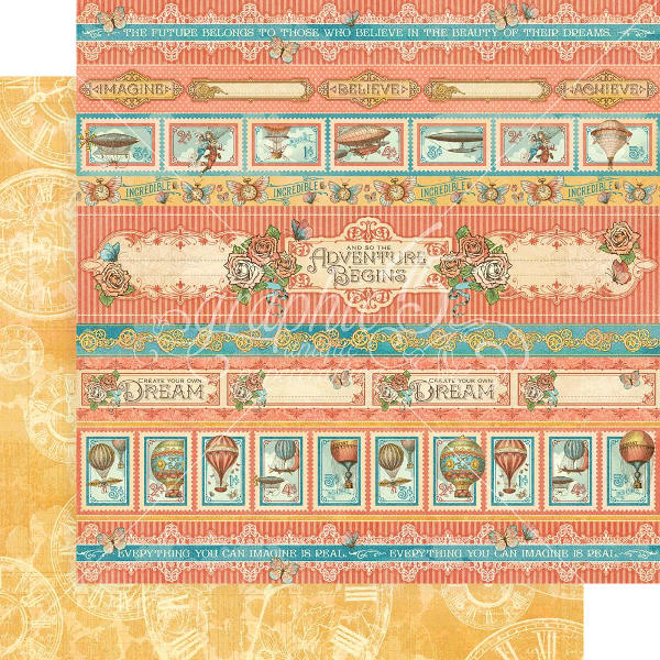 Imagine - Adventure Beckons 12 x 12 Patterned Paper - Graphic 45