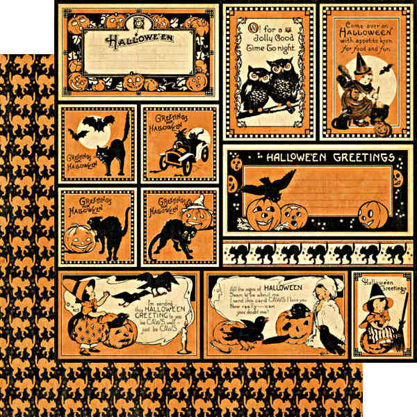 Happy haunting halloween greetings halloween 12 x 12 double happy haunting halloween greetings halloween 12 x 12 double sided paper graphic 45 m4hsunfo