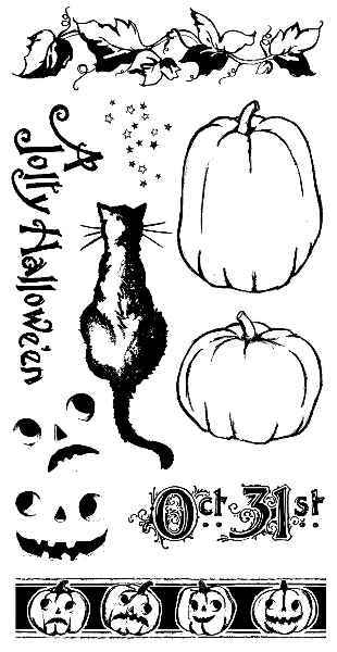 Happy Haunting - Cling Stamps 2 - Hampton Art - Graphic 45