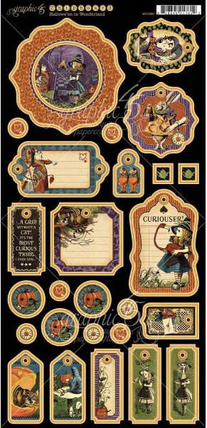 Halloween In Wonderland Decorative Chipboard Graphic45