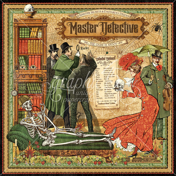 Master Detective  Master Detective 12 x 12 Patterned paper - Graphic 45-1