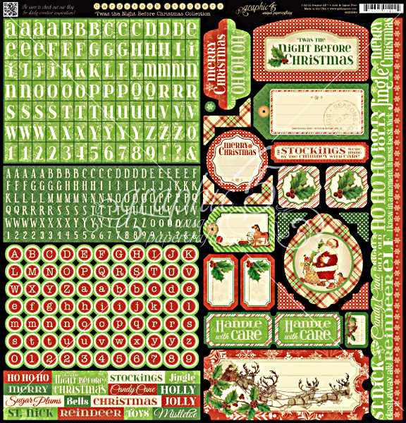 Twas the Night Before Christmas -  Cardstock Stickers - Graphic 45