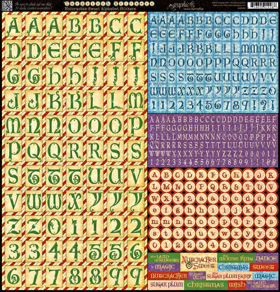 Nutcracker Sweet - Alphabet Cardstock Stickers - Graphic 45