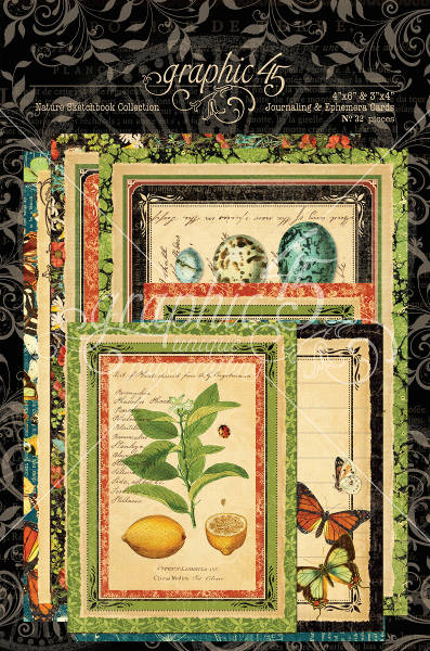 Nature Sketchbook Ephemera Cards - Graphic 45