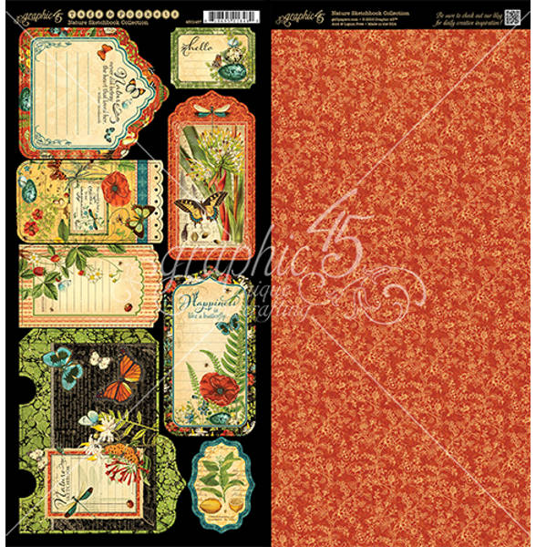 Nature Sketchbook Tags & Pockets - Graphic 45-1