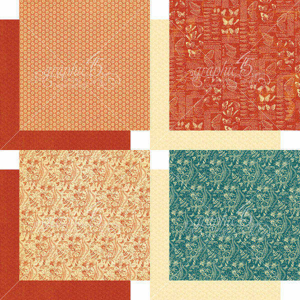 Nature Sketchbook 6x6 Patterns & Solids - Graphic 45-3