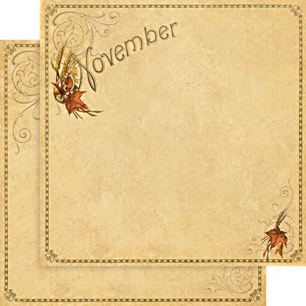 Place In Time -    November Foundation - 12 x 12 Double-sided Paper - Graphic 45