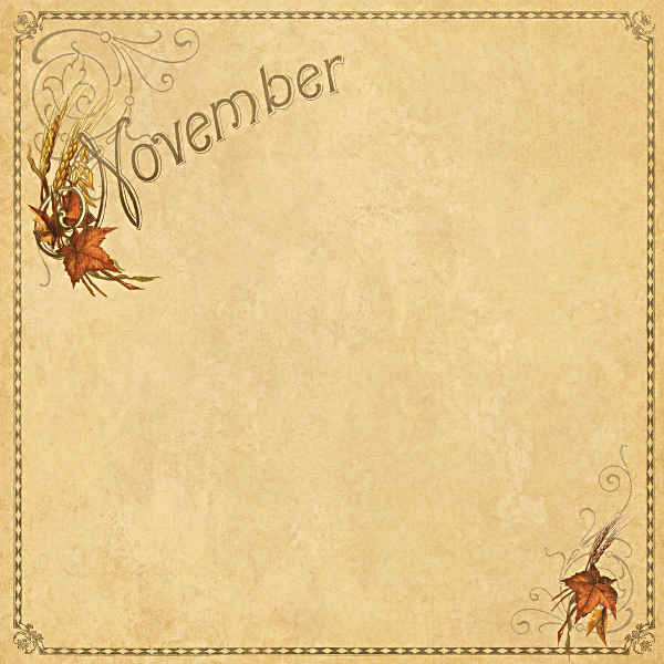 Place In Time -    November Foundation - 12 x 12 Double-sided Paper - Graphic 45-1
