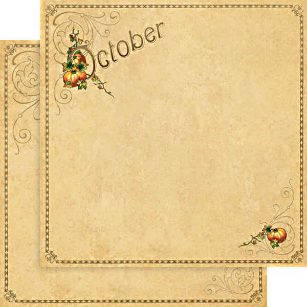 Place In Time -     October Foundation - 12 x 12 Double-sided Paper - Graphic 45