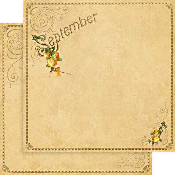 Place In Time -      September Foundation - 12 x 12 Double-sided Paper - Graphic 45