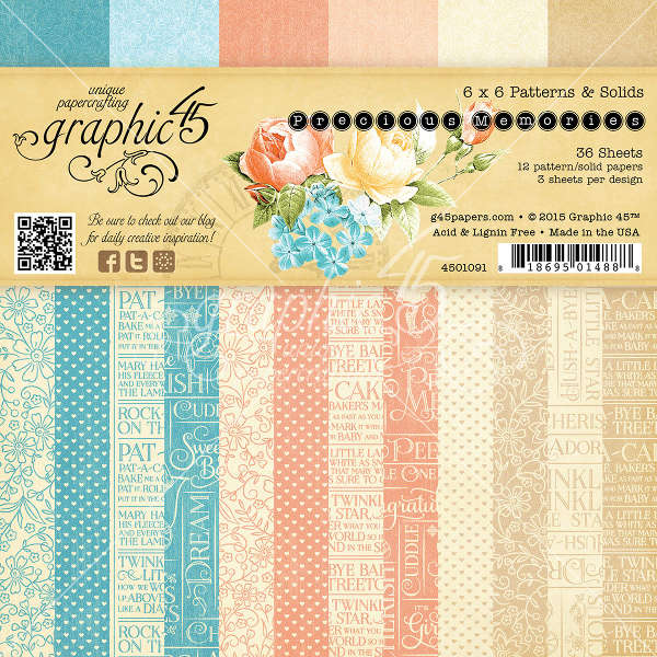 Precious Memories -  6x6 Patterns & Solids Pad - Graphic 45
