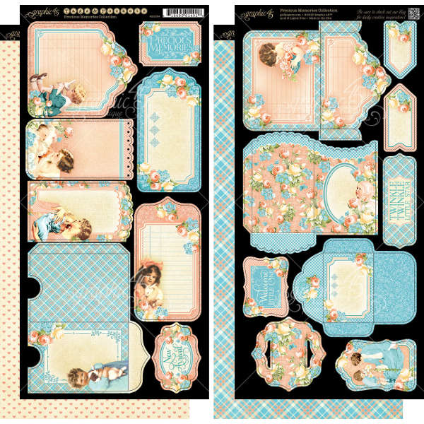 Precious Memories -  Cardstock Tags & Pockets - Graphic 45