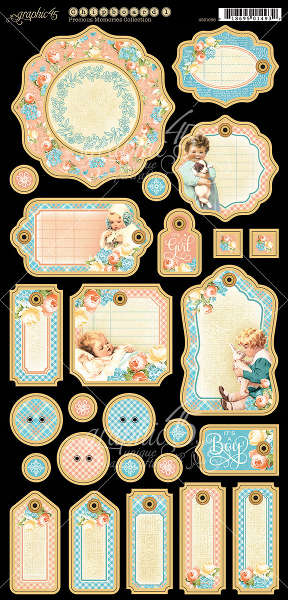Precious Memories -  Journaling Chipboard - Graphic 45