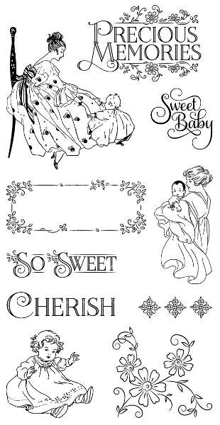 Precious Memories - Cling Stamps 1 - Graphic 45