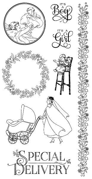 Precious Memories - Cling Stamps 3 - Graphic 45