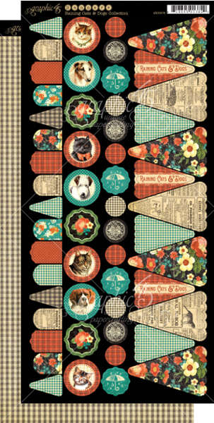 Raining Cats and Dogs -  Cardstock Banners - Graphic 45-1