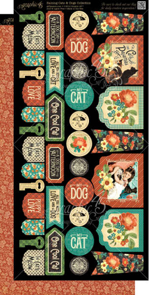 Raining Cats and Dogs -  Cardstock Banners - Graphic 45-2