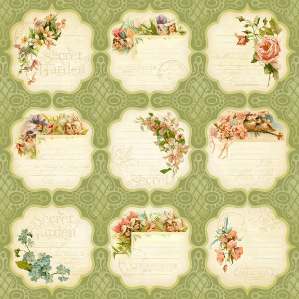 Secret  Garden - Meadow Lark - 12x12 Double-sided Paper - Graphic 45-1