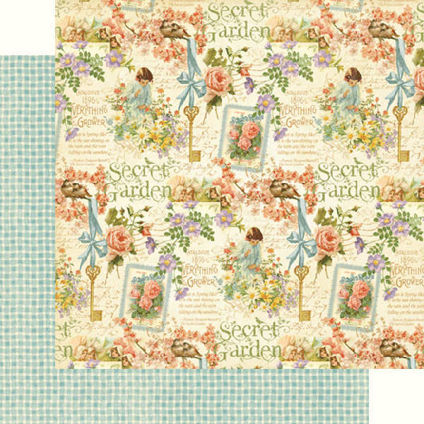 Secret  Garden - Posy Patch - 12x12 Double-sided Paper - Graphic 45