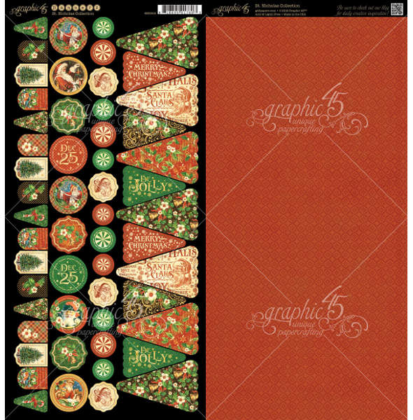 St Nicholas  - Cardstock Banners - Graphic 45-1