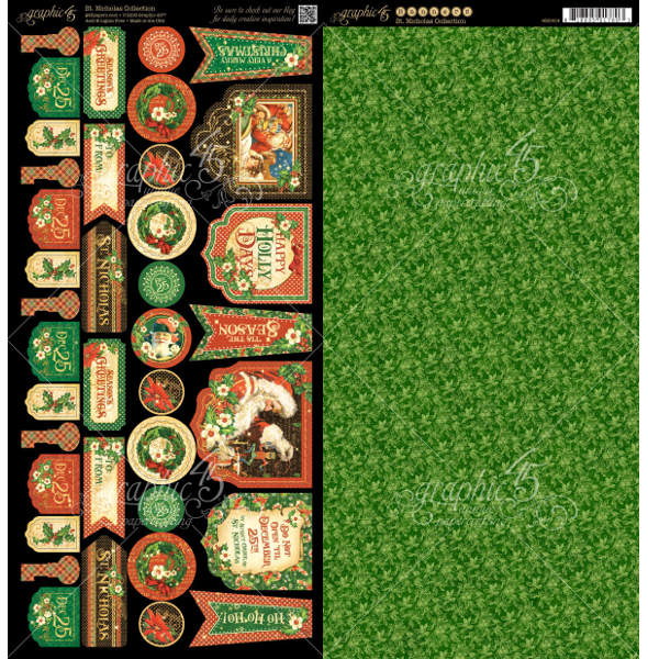 St Nicholas  - Cardstock Banners - Graphic 45-2