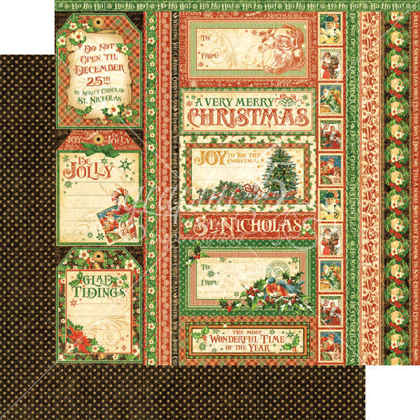 St Nicholas   - Seasons Greatings - 12 x 12 Patterned Paper - Graphic 45