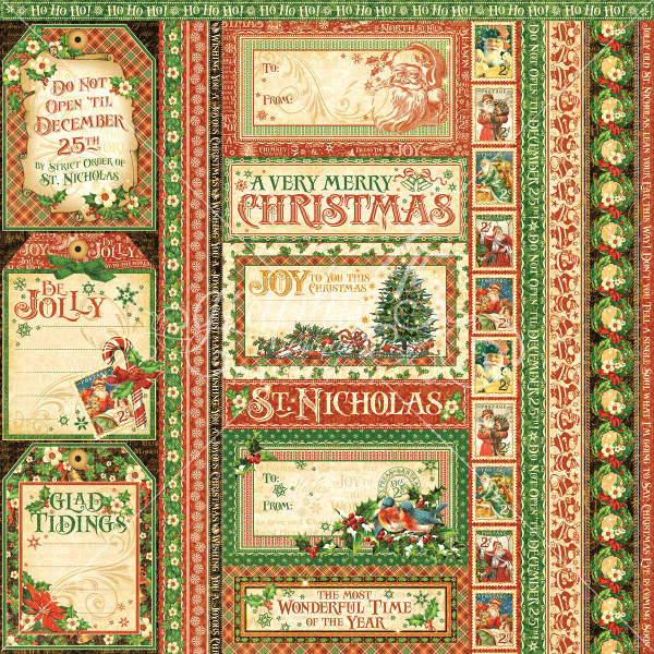 St Nicholas   - Seasons Greatings - 12 x 12 Patterned Paper - Graphic 45-1