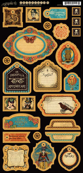 Steampunk Spells - Chipboard Tags 2 - Graphic 45