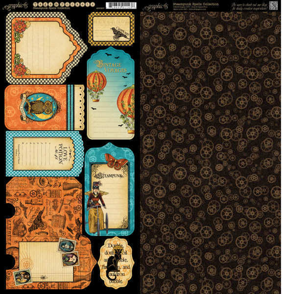 Steampunk Spells - Cardstock Tags & Pockets - Graphic 45-1