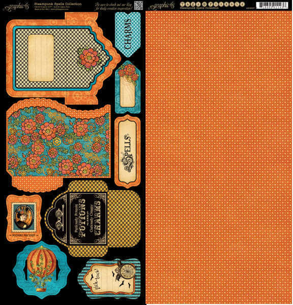 Steampunk Spells - Cardstock Tags & Pockets - Graphic 45-2