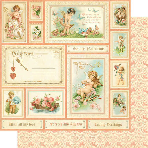 Sweet Sentiments -  Be My Valentine - 12x12 Double-sided Paper - Graphic 45