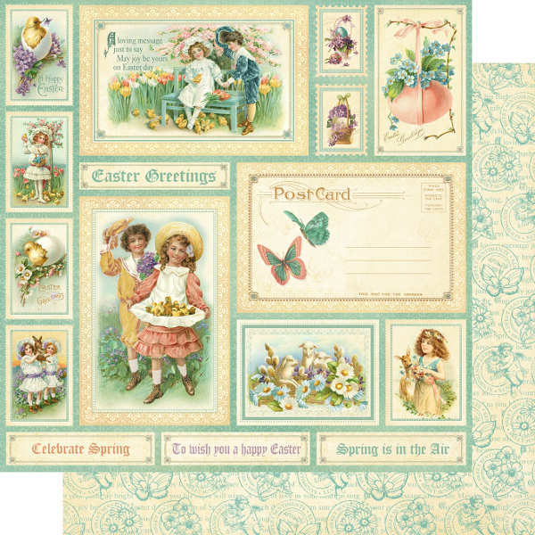Sweet Sentiments -  Easter Greetings - 12x12 Double-sided Paper - Graphic 45