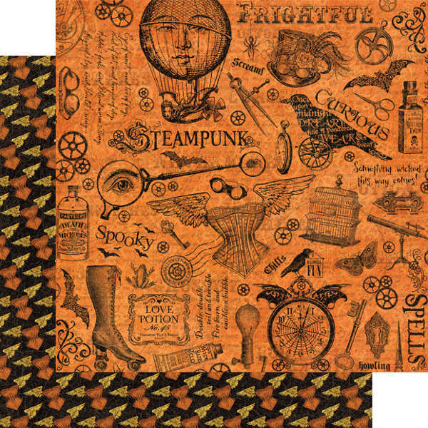 Steampunk Spells -  Mechanical Marvels - 12x12 Double-sided Paper - Graphic 45