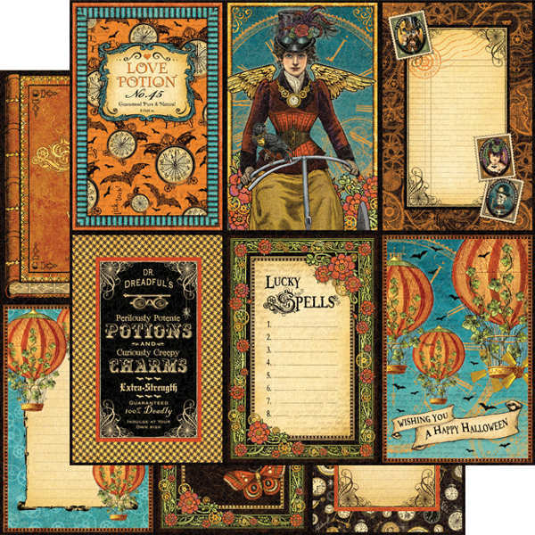 Steampunk Spells - Vintage Voyage - 12x12 Double-sided ...