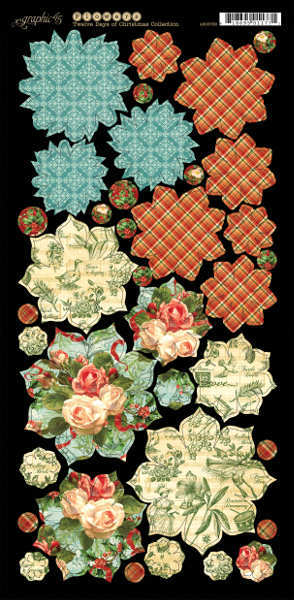 Twelve Days of Christmas - Cardstock Flowers - Graphic 45-1